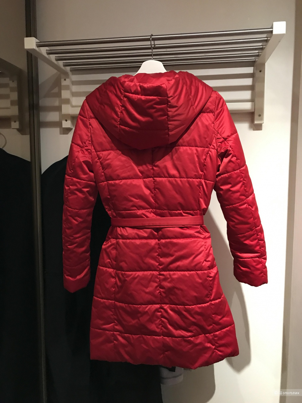 Пальто демисезон.  стёганное красное Lakbi, 42-44 p