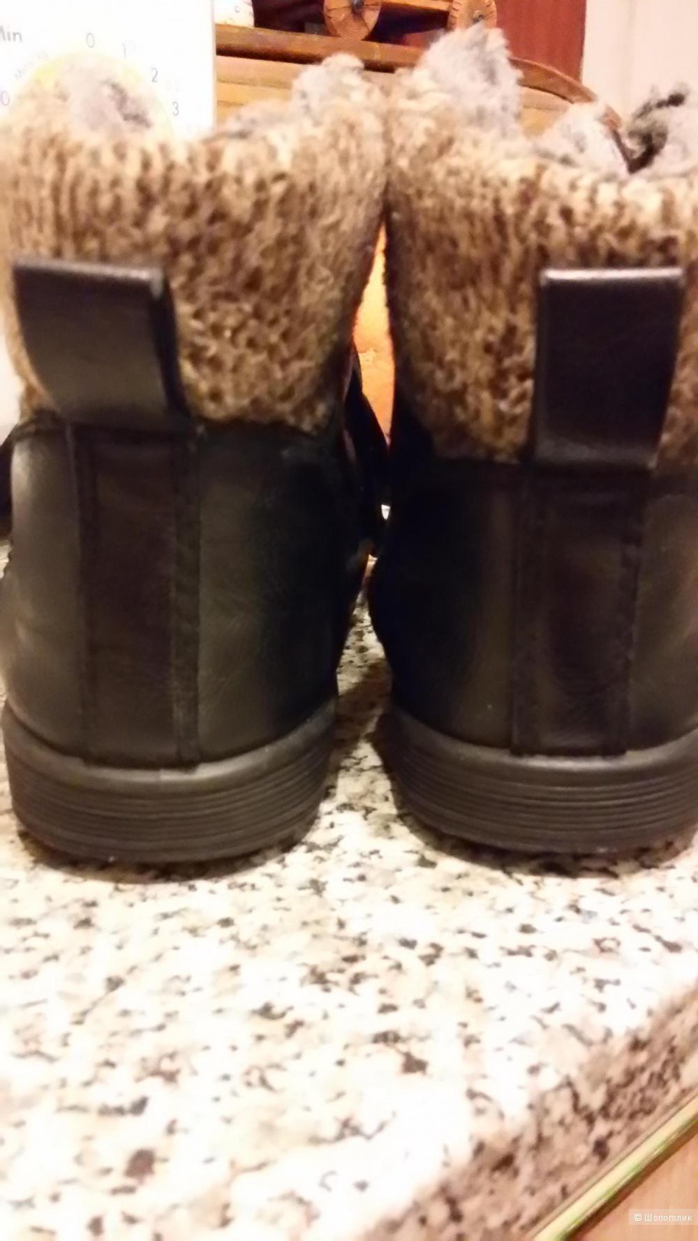Ботиночки утепленые,натуральная кожа,,для мальчика,размер,30