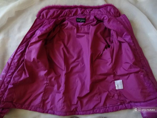 """Куртка с мехом норки """"Savage"""", размер 42-44, б/у"""