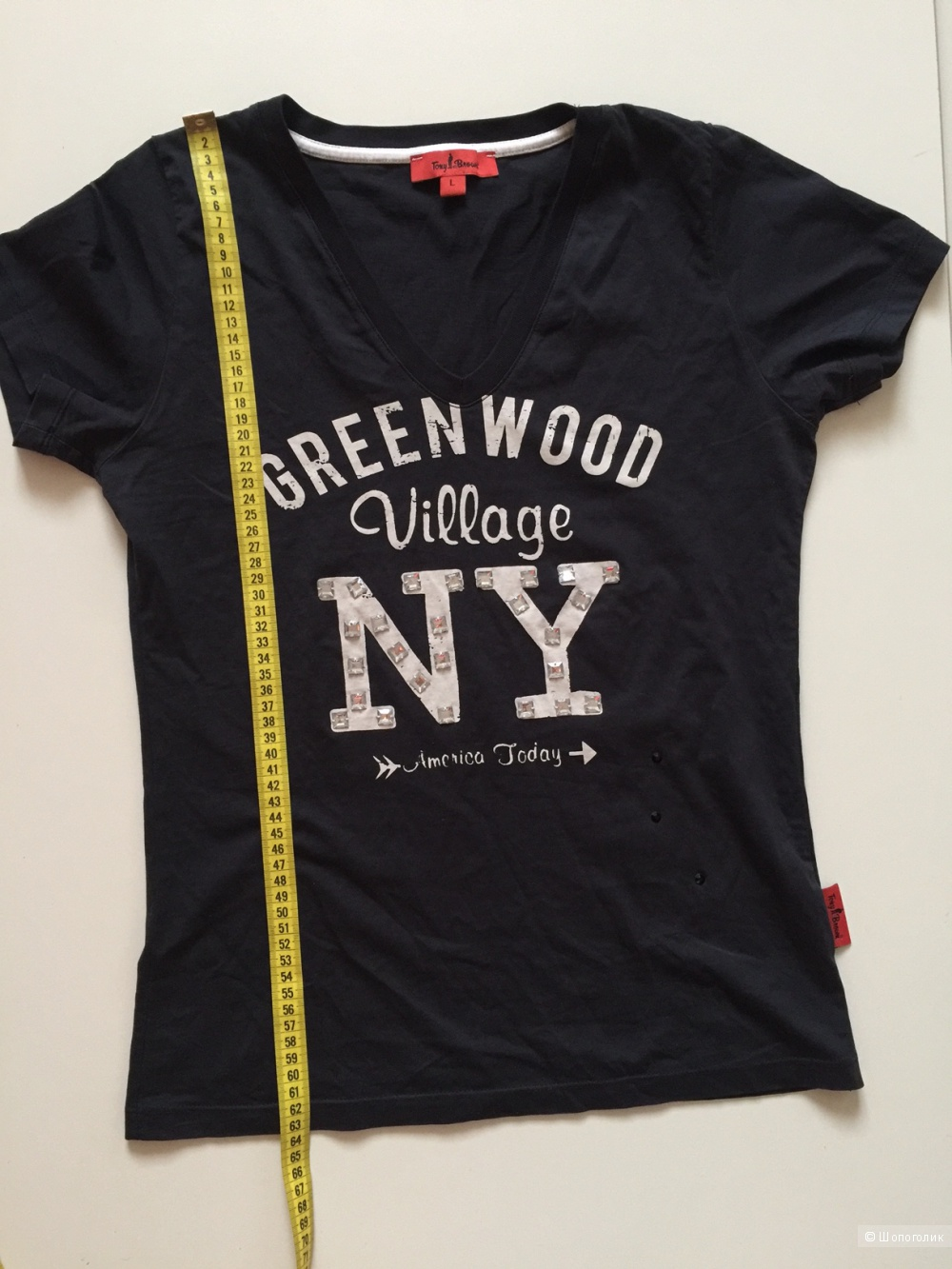 Легендарная футболка NY от марки Tony Brown размер L