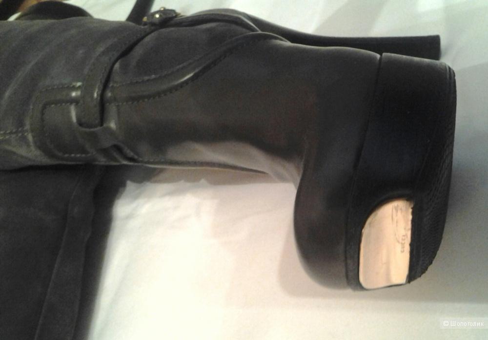 Gucci сапоги кожа/замша 37 размер