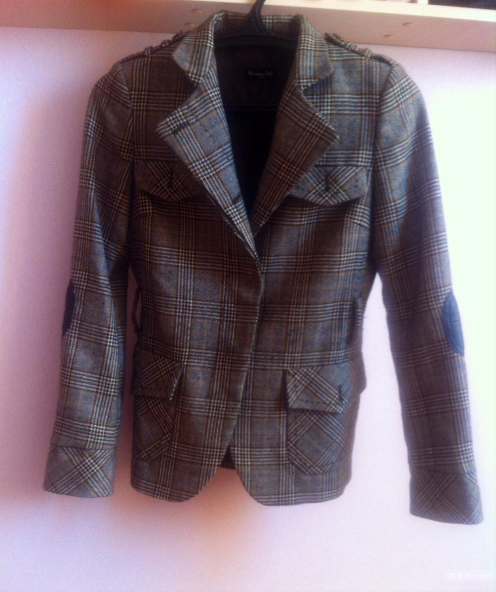 Пиджак с заплатками Massimo Dutti, 44