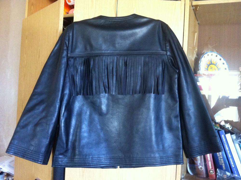 Куртка Just Cavalli из кожи, оригинал, новая, 40 it