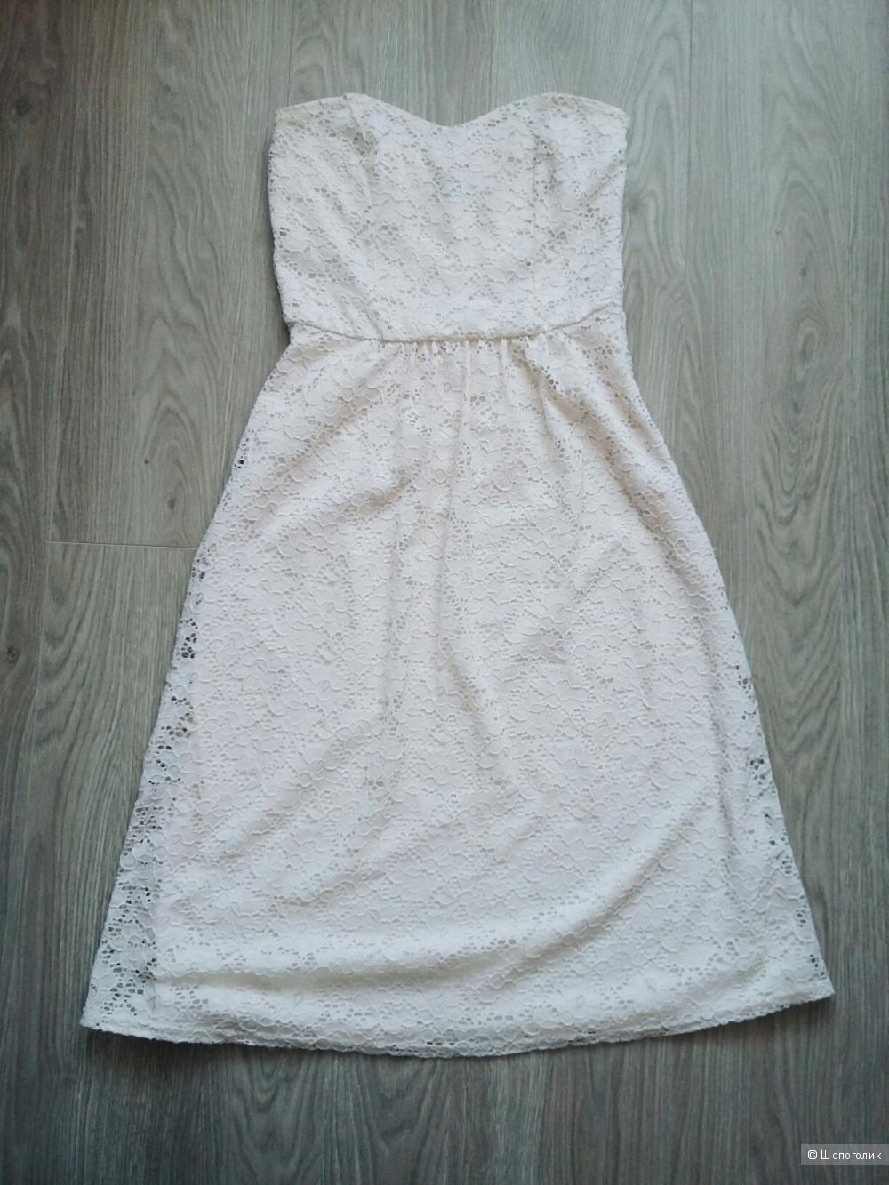 Кружевное платье миди Asos размер 46