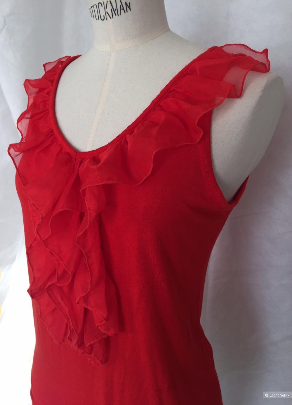 Красный топ с рюшей марки Seppala women размер M