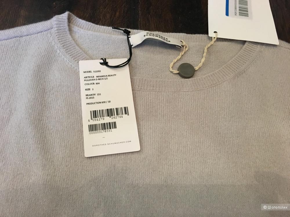 Кашемировый свитер DOROTHEE SCHUMACHER, 44  На рос. 44-46 Светло-серый.