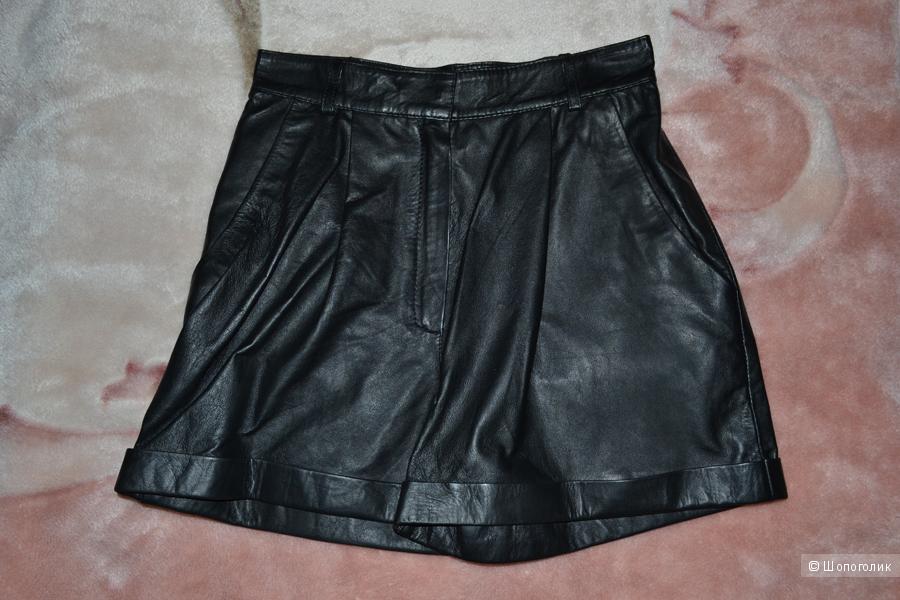 Кожаные шорты Mango, 34 EUR