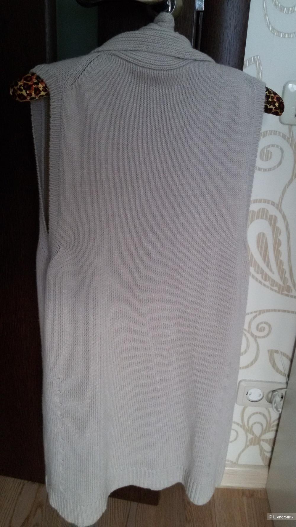 Кардиган с кашемиром без рукавов Massimo Dutti 44-46-48 Made in Italy