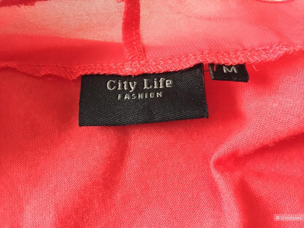 Кофта кораллового цвета, марка City Life размер M
