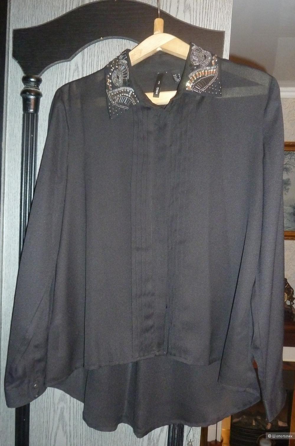 Блузка шифоновая черная MNG размер М