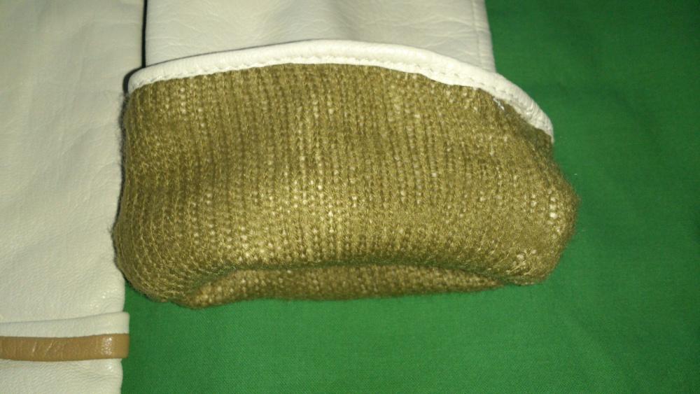 Перчатки кожаные белые, размер 7 или 71/2, Венгрия