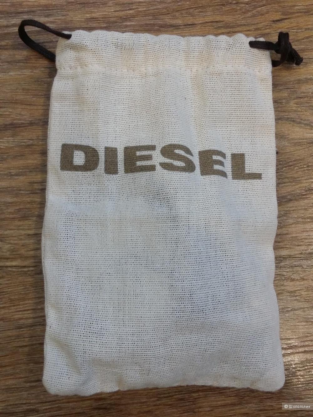Декоративный ремень DIESEL  c навесным кошелечком, металл, кожа