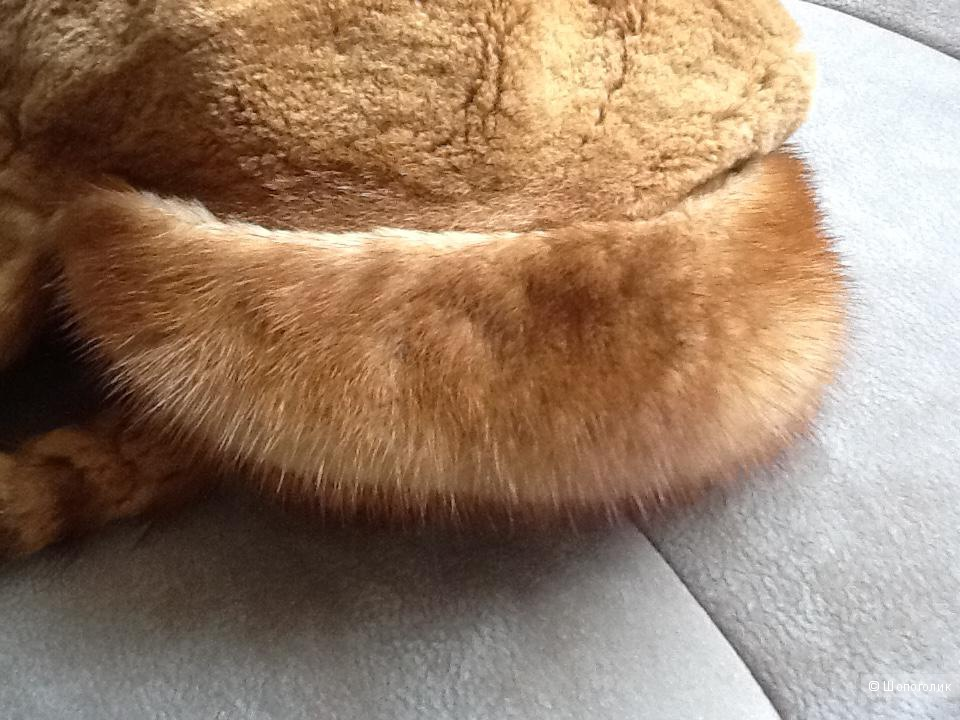 Норковая шапка с ушками Kussenkovv 55-56 размер