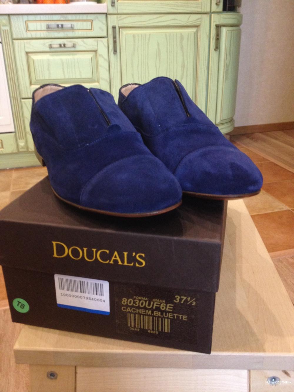 Мокасины DOUCAL'S, натуральная замша, 37,5 размер, новые с биркой