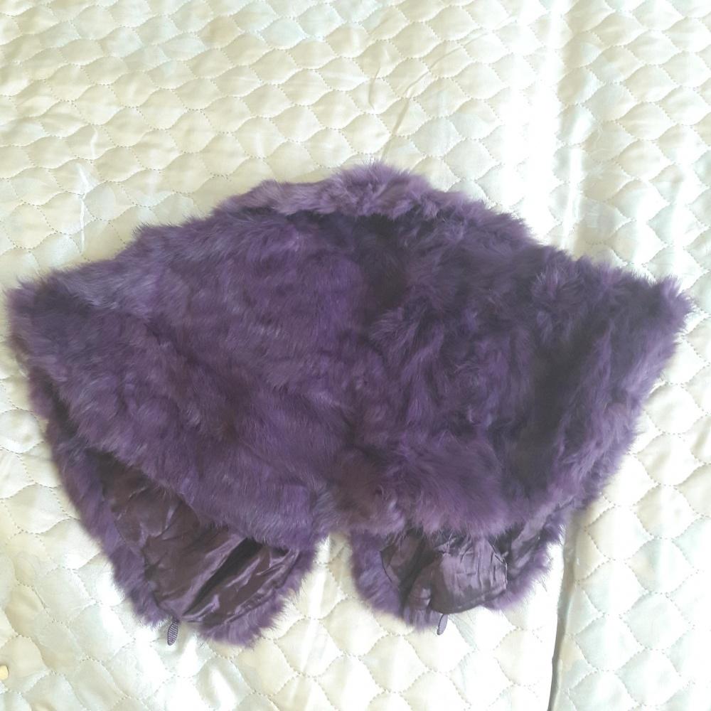 Новое болеро из натурального меха кролика для девочки