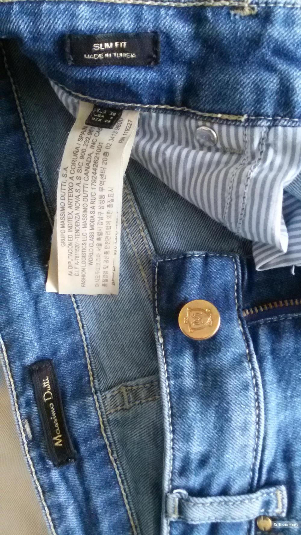 Джинсы Massimo Dutti slim fit маркировка 38, подойдет на размер 44-46.
