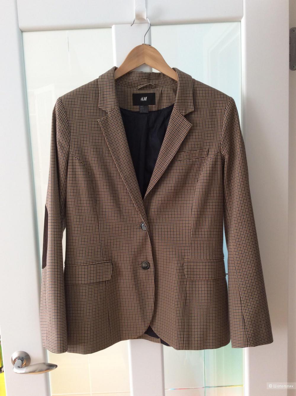 Стильный пиджак H&M в жокейском стиле р.42EU (на 48)