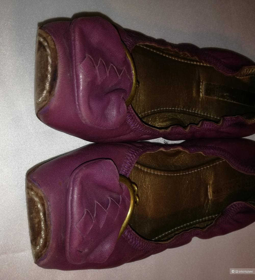 Bottega Veneta балетки кожаные 36-36,5 размер