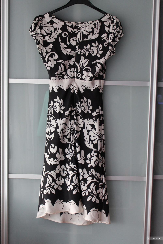 Новое шелковое платье Xs