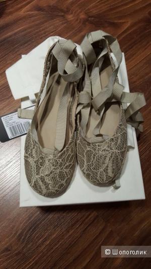 DOLCE&GABBANA моднющие балетки-эспадрильи р.37  новые оригинал