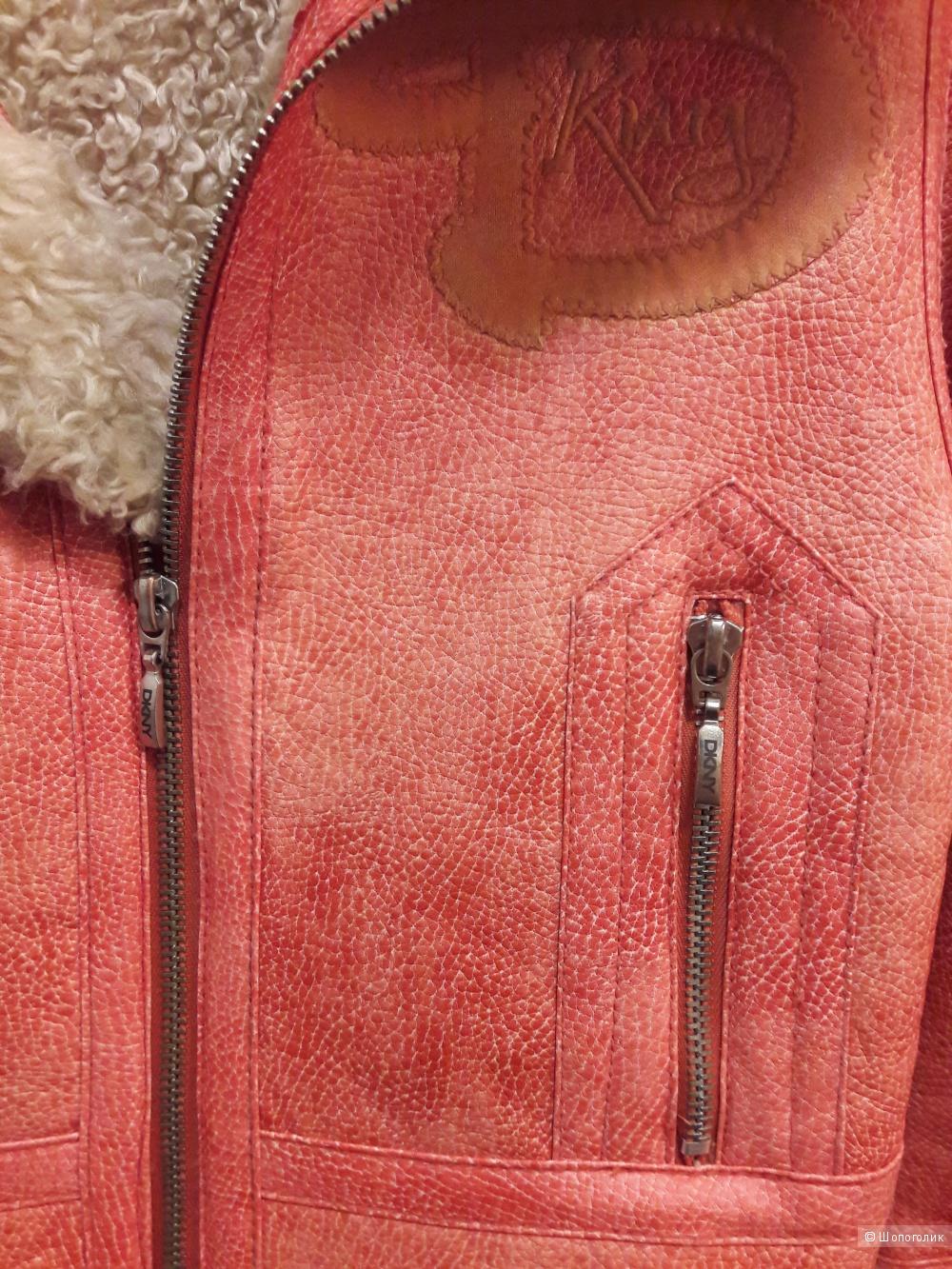 Дубленка искусственная на девочку DKNY