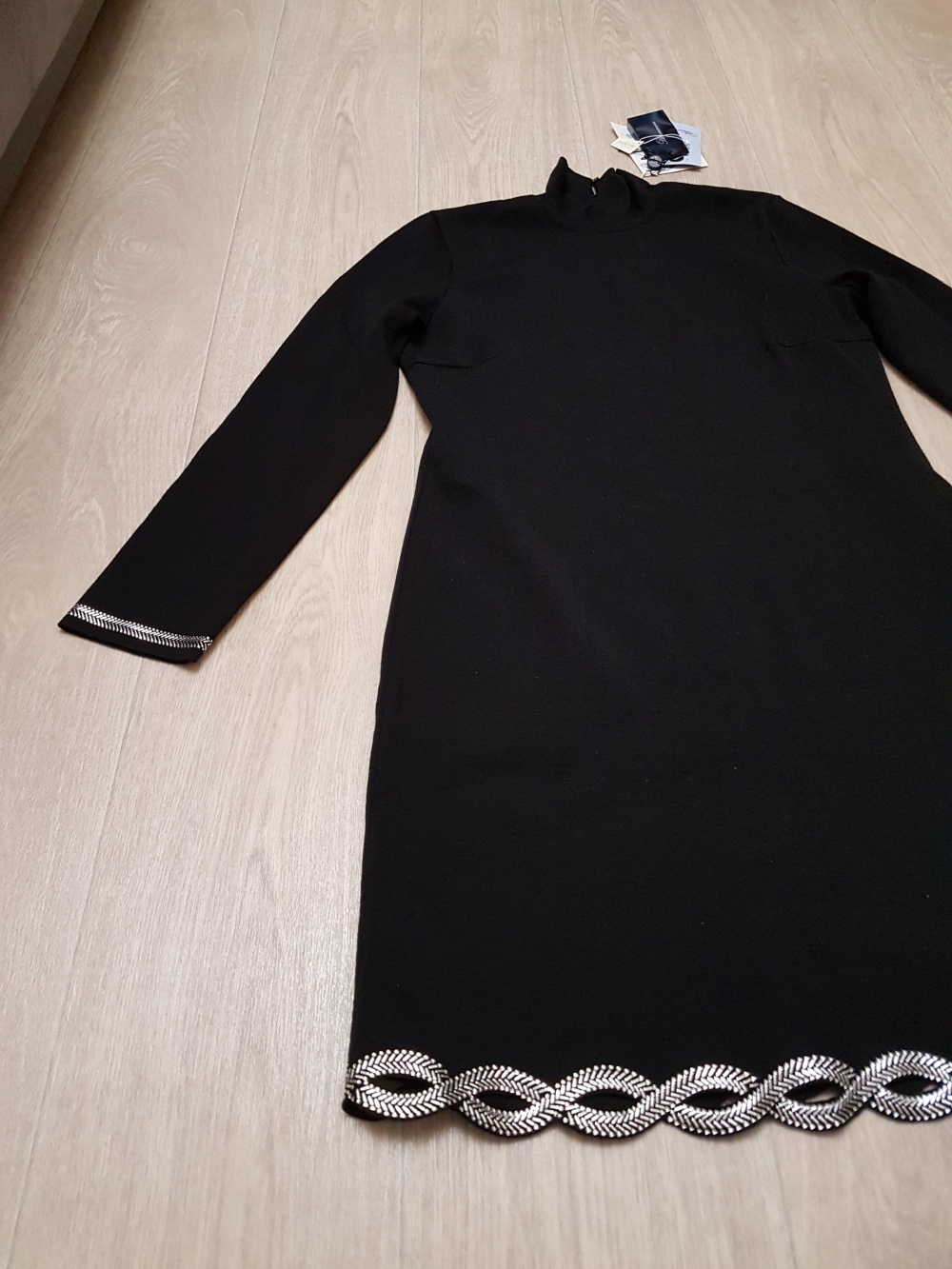 Шерстяное платье Blumarine с кристаллами Сваровски, размер 44 it (46-48)