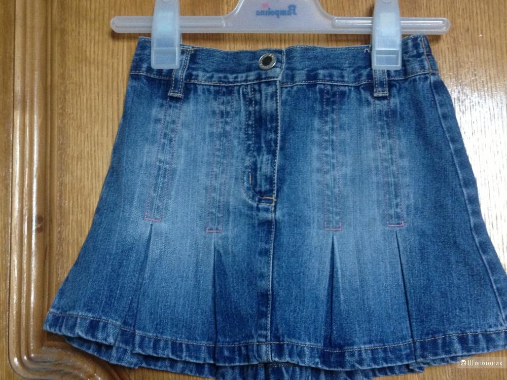 Джинсовый комплект юбка ф.Arizona, жилет ф.NEXT на 110 разм