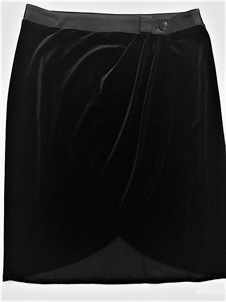 Классическая бархатная юбка-карандаш Elis размер 48-50