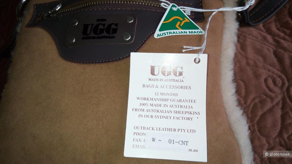 Сумочка UGG, оригинал, натуральная кожа и овчина.