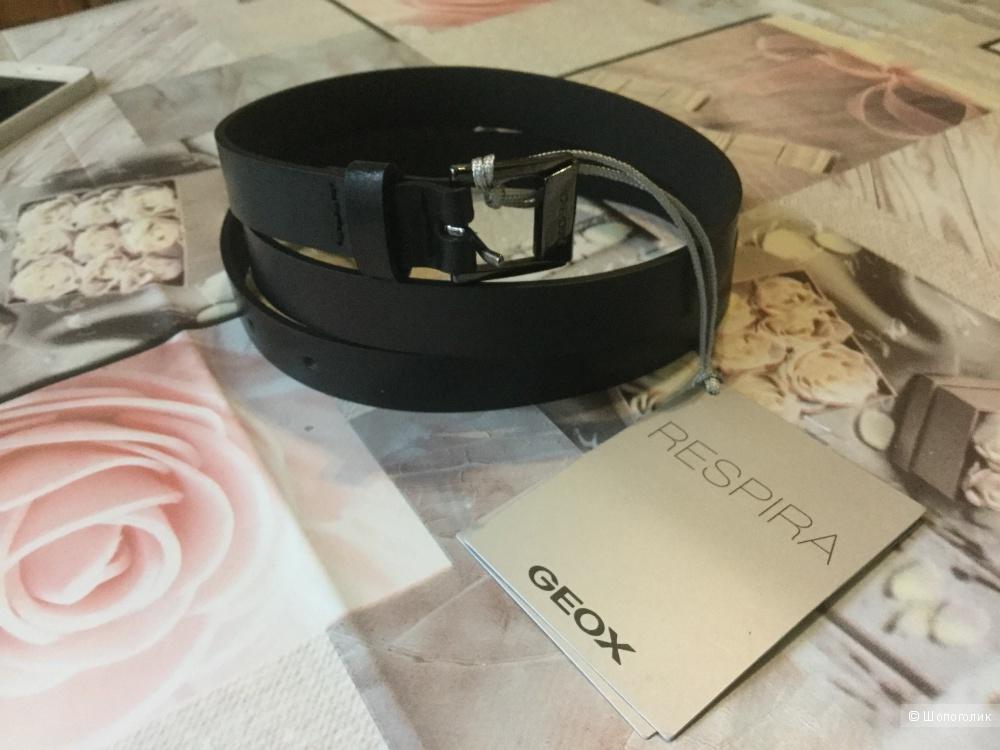 Ремень GEOX RESPIRA кожа 90 см чёрный