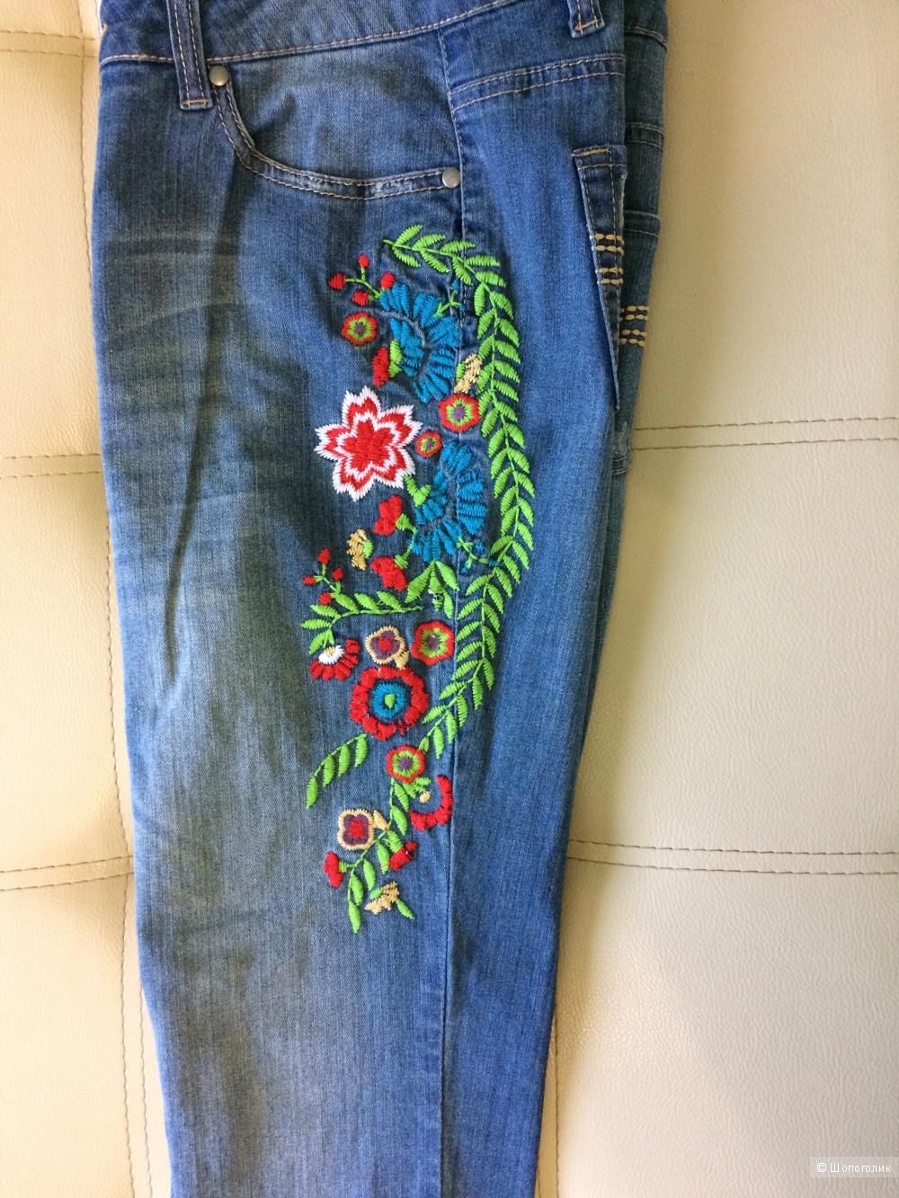 Джинсы Mandarin с вышивкой 48-50 размер