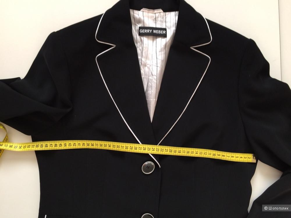 Жакет черного  цвета с отделкой, марки Gerry Weber размер 50-52