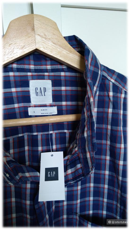 Брендовая мужская рубашка GAP Slim Fit L (наш 52-54, 54 размер)