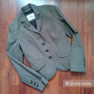 Пиджак укороченный в клеточку S OLIVER Германия в размере 44-46