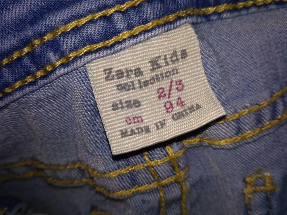 Комбинезон джинсовый Zara kids, р-р 2/3 (рост 95-100)