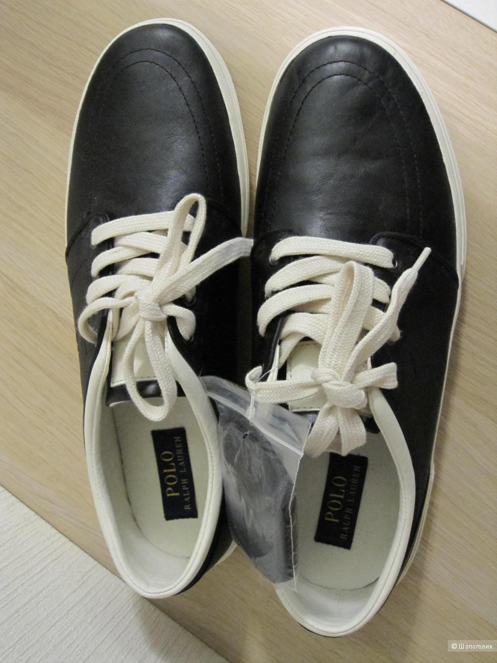 Кеды  Ralph Lauren 12US черные натуральная кожа