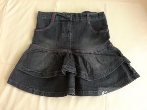 Джинсовая юбочка для девочки, рост 128
