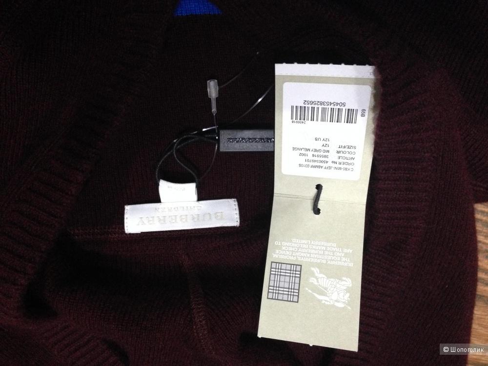 Burberry красивый свитер из кашемира. Новый.Оригинал.р.46-M