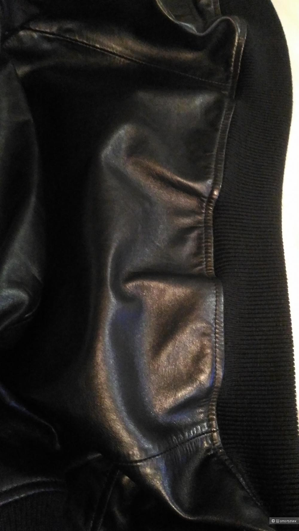 Кожаная куртка Dsquared, размер 44 it