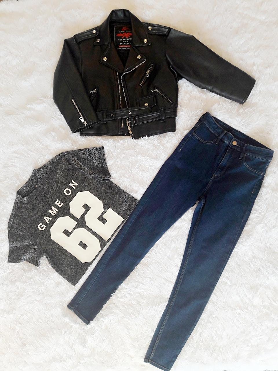 Комплект косуха джинсы топ HM р 44