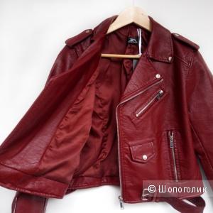 Куртка-косуха бордовая Aliexpress размер XS