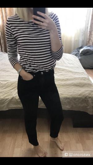 Джинсы черные mom H&M размер 40-42 (34 европейский)