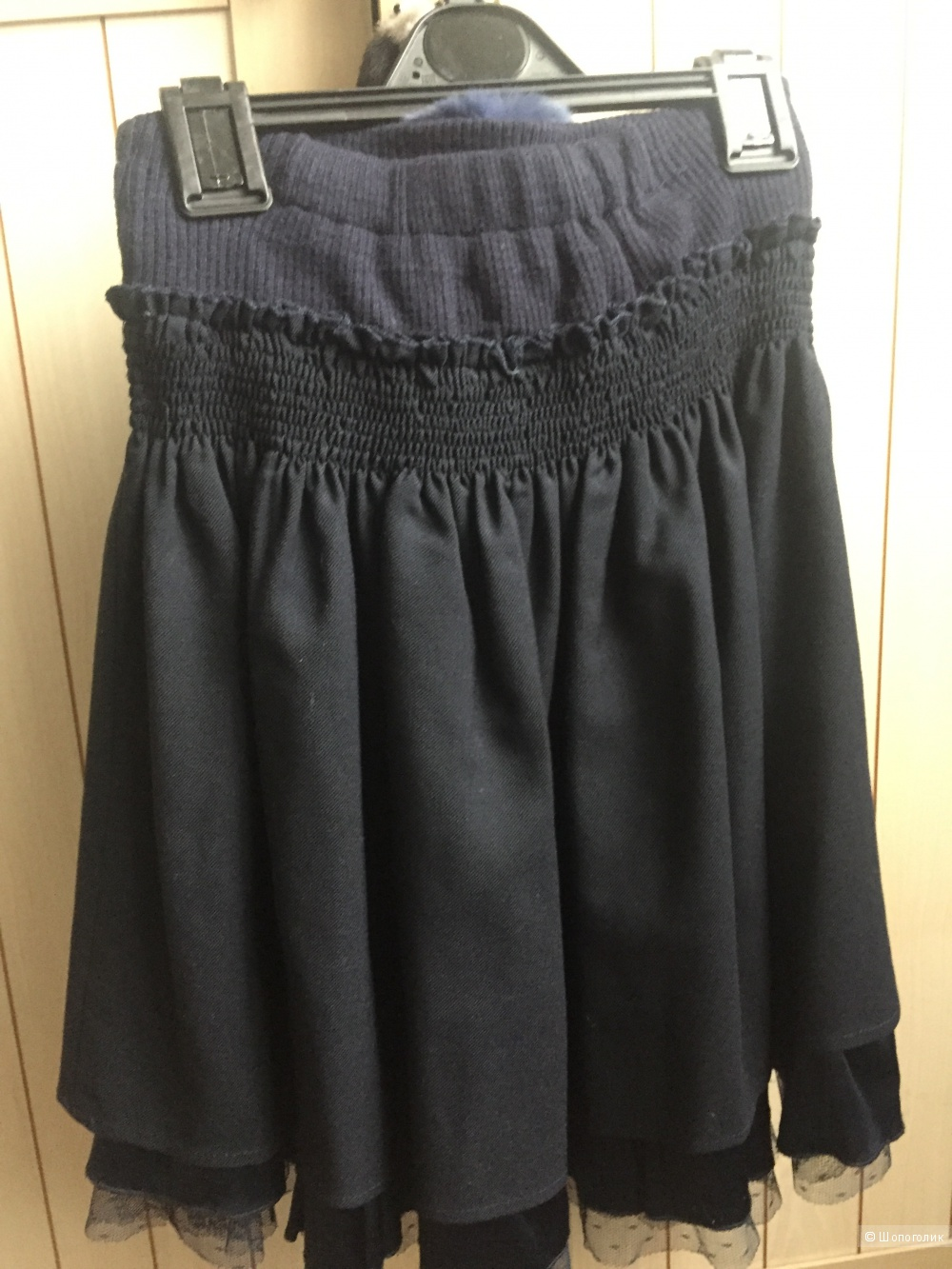Школьная юбка ф.Noble People 140 разм (синяя)