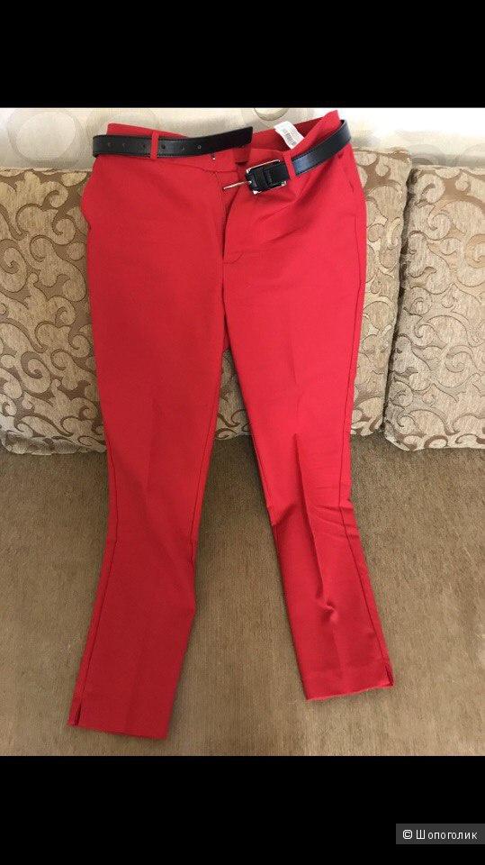 Красные брюки Stradivarius  размер 44