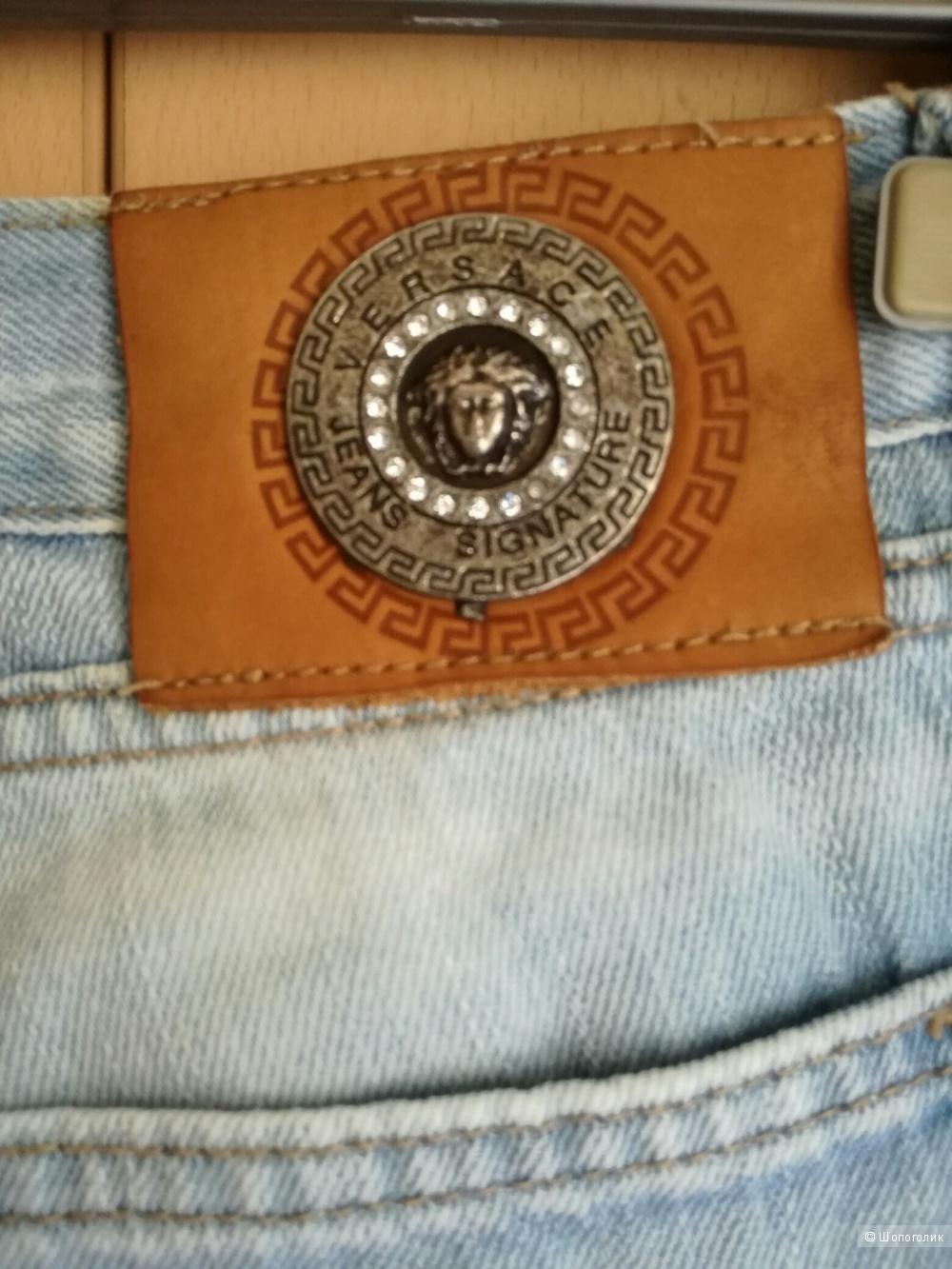 Versace jeans couture джинсы голубые 42-44 размер
