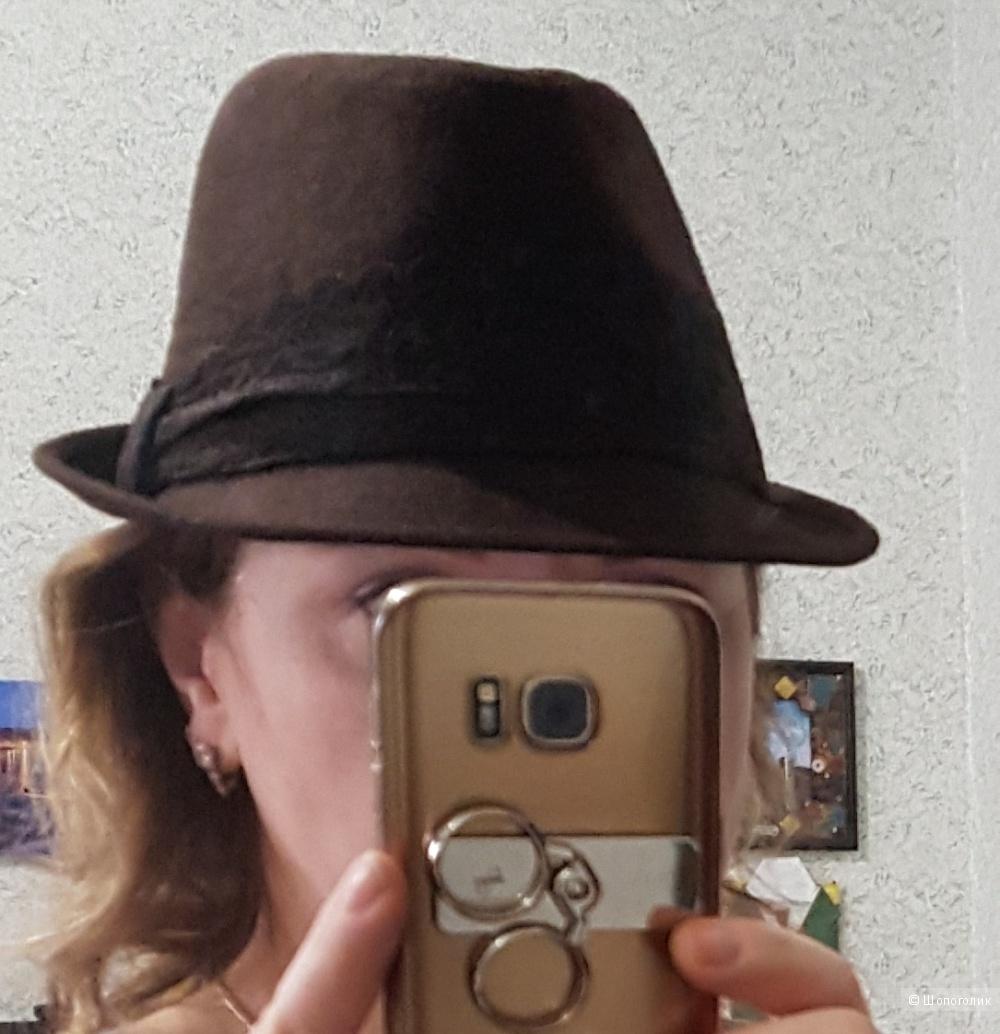 Женская фетровая шляпа Федора р.56-57