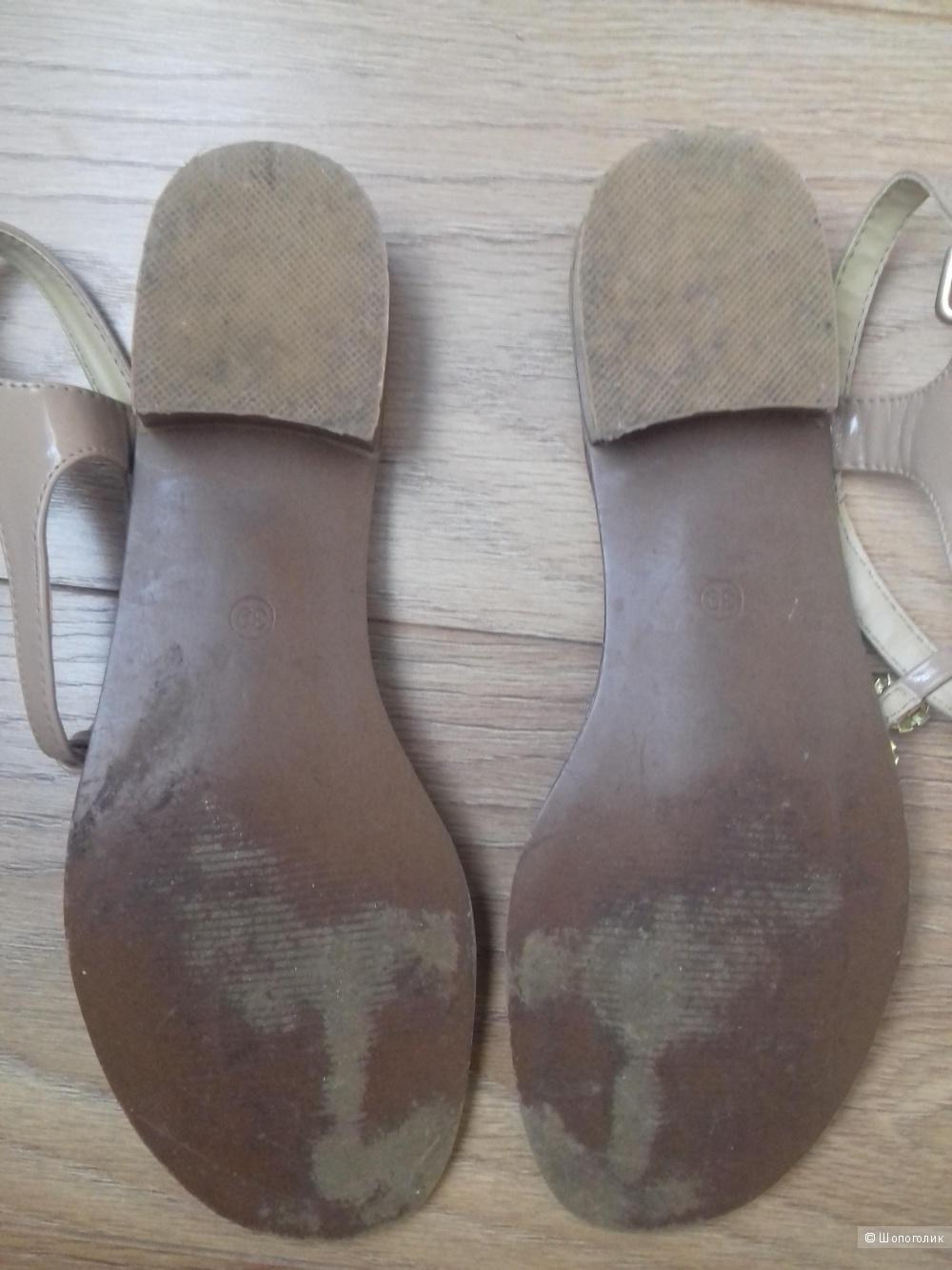 Босоножки-сланцы T.Taccardi, коричневые, размер 39