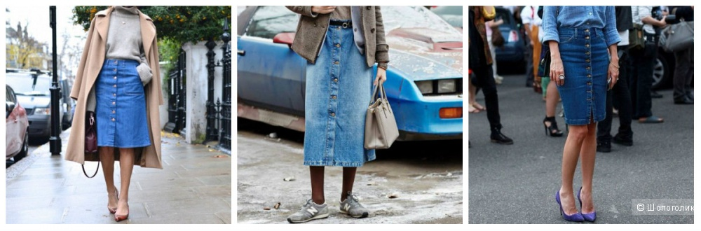 Джинсовая юбка Michael Kors, размер 10