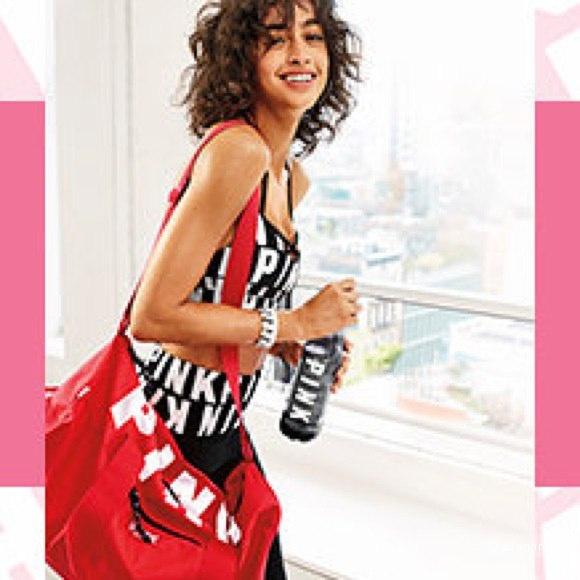 Pink Duffle & Water Bottle VS