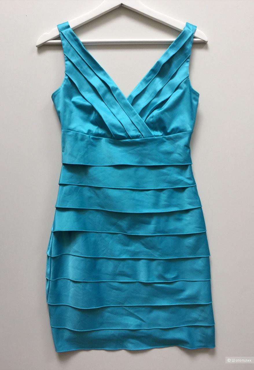 Коктельное платье голубого цвета французской марки XANAKA размер XS